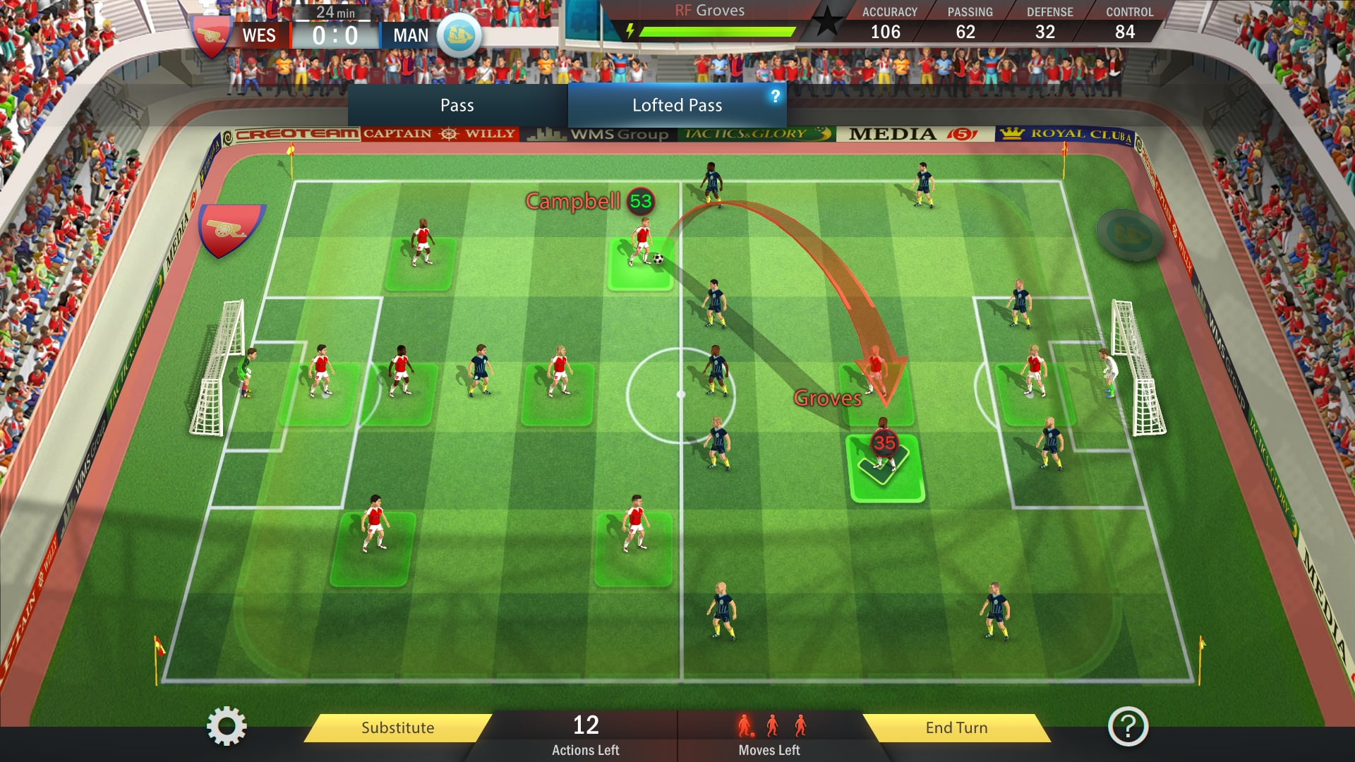 football, tactics and glory review