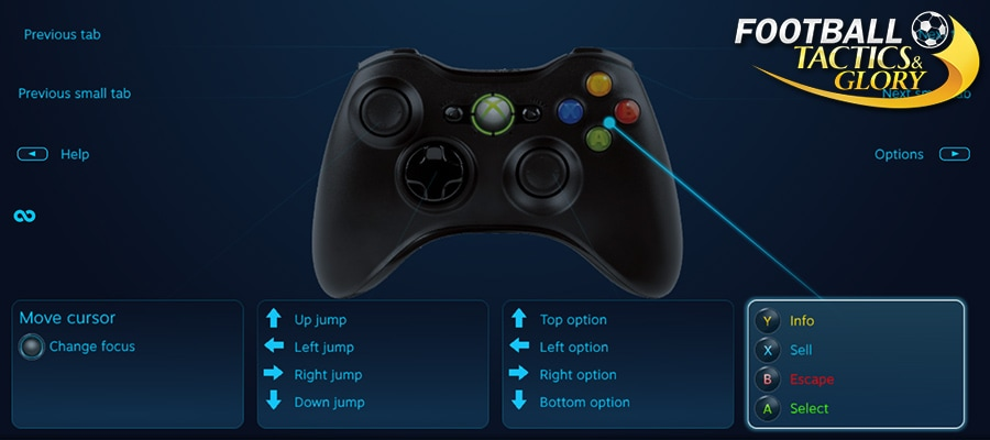 Gamepad Support in Football, Tactics & Glory